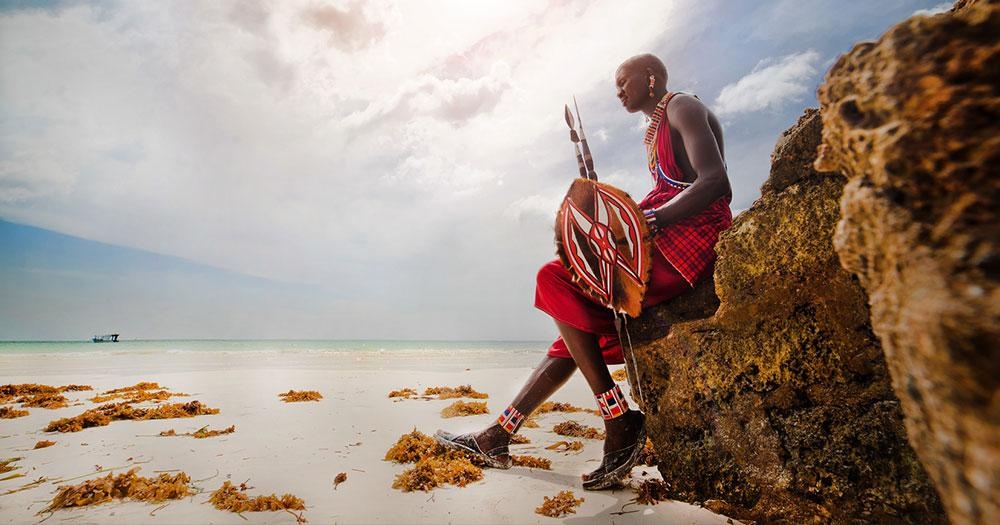 Mombasa - Maasai Krieger