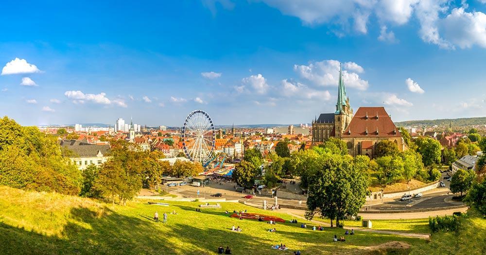 Erfurt - Blick auf die Stadt