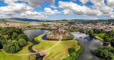 Cardiff Castle - Luftaufnahme