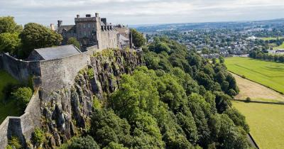 Stirling Castle - am Abhang