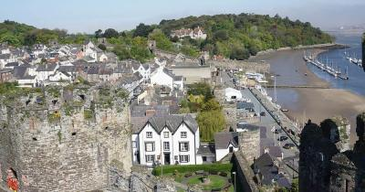 Conwy Castle - Blick auf den Ort