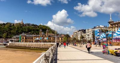 Playa de La Concha - Promenade von San Sebastian