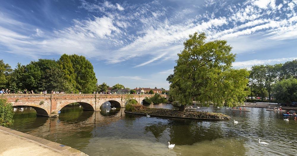 Stratford-upon-Avon - Blick auf den Avon