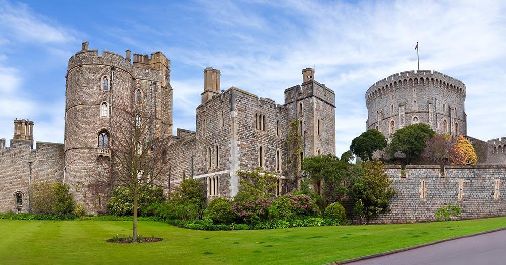 Windsor Castle - Mauern und Türme