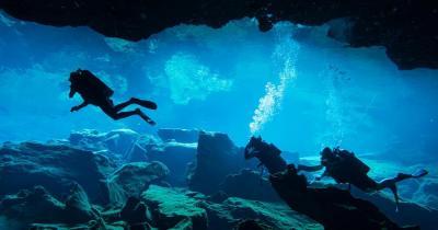 Unterwasserhöhlen von Pirgos Dirou - Höhlentaucher