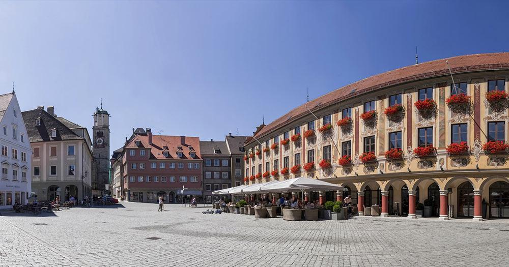Memmingen - Panorama des Marktplatzes