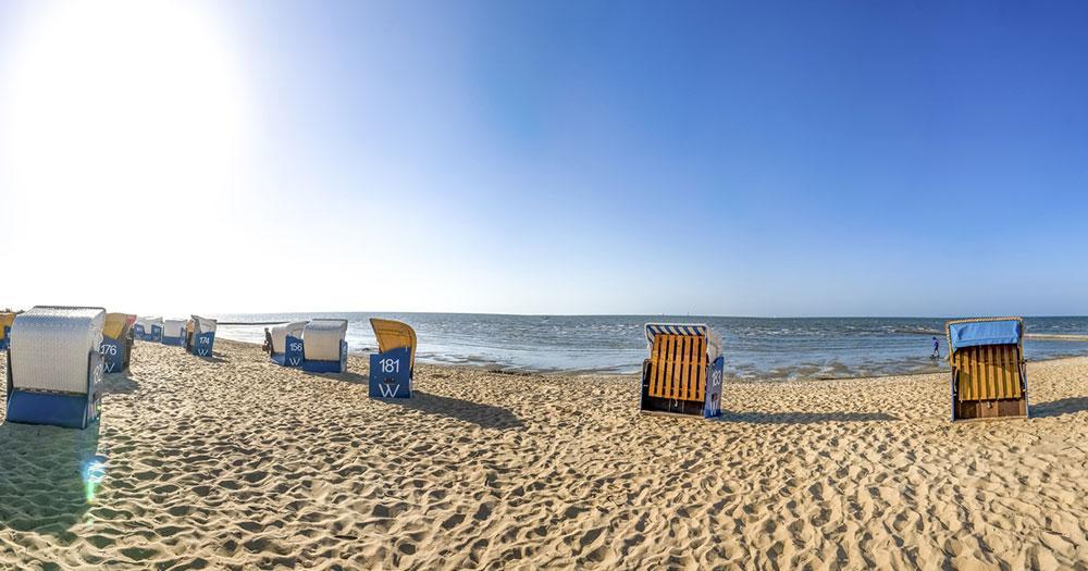 Cuxhaven - Strandkörbe