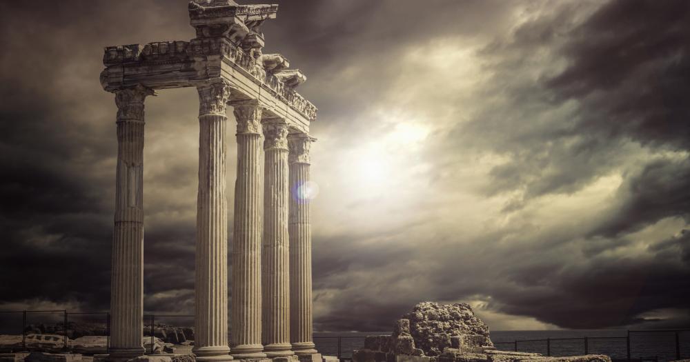 Antalya - Blick auf die Apollon Tempel
