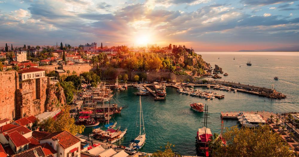 Antalya - Blick auf das Meer