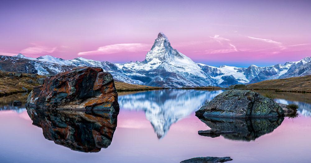 Zermatt - Matterhorn spiegelt sich im Stellisee