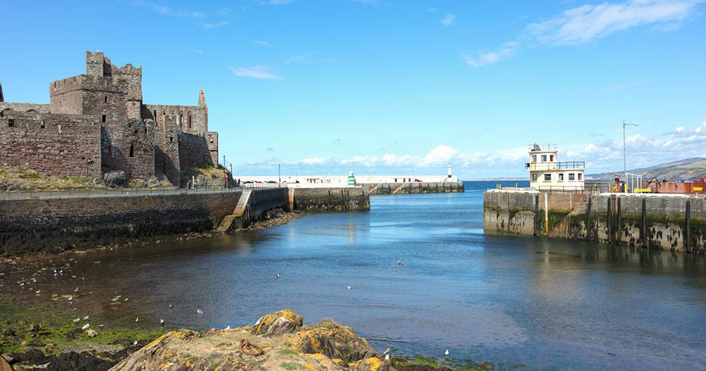 Isle of man - Harbour Peel