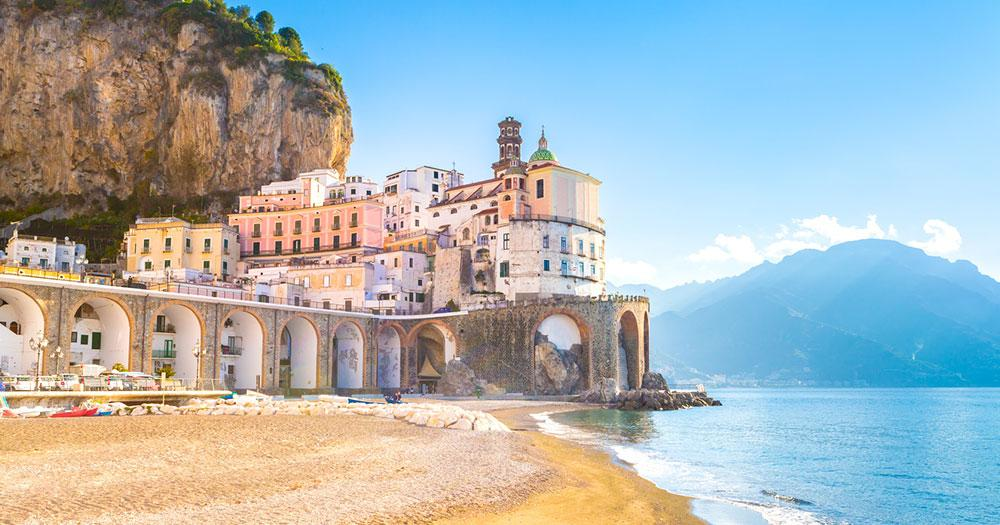 Amalfi Küste - morgendlicher Blick auf Atrani